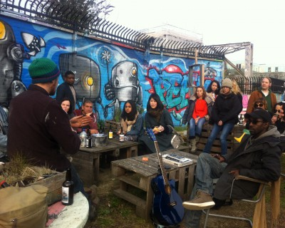 Captivating talk by Jimmy at Nomadic Gardens on third space