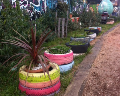 Fantastic upcycling at Nomadic Gardens