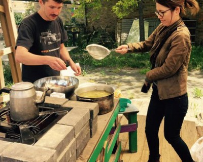 Elderflower cordial making – 6.06.2015